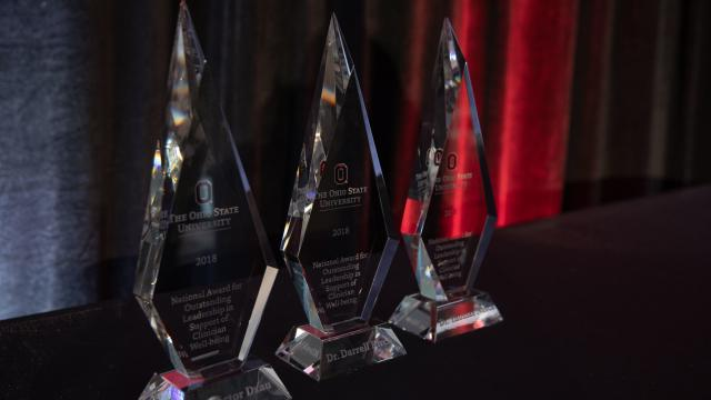 Images of Awards presented at the inaugural clinician's well-being summit